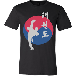 Martial Art T-Shirt, short sleeve, black, with Taekwondo design, unisex - T-shirt - Art of KIME