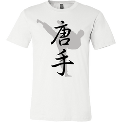 Martial Art T-Shirt, short sleeve, white, with karate design, unisex - T-shirt - Art of KIME