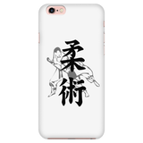 Martial Art Phone Case, white, with BJJ design, Apple iPhone 5 to 7 - Phone Cases - Art of KIME