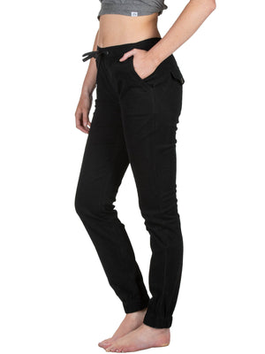 Ladies Black Joggers