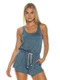 Steel Blue Easy Romper