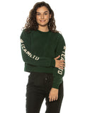 Green Ladies Polar Fleece Crewneck