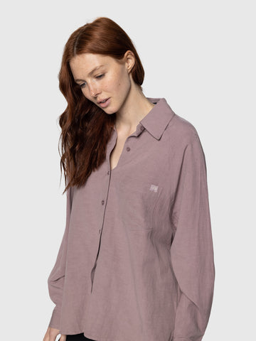Mauve Beach Day Button Up