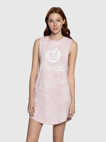 Tie Dye Pink Aussie Dress
