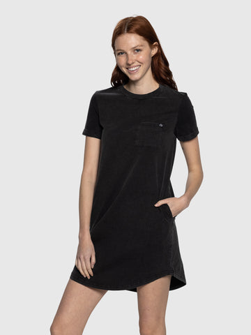 Wash Black Tee Dress