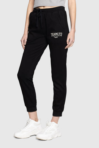 Ladies Black Training Joggers