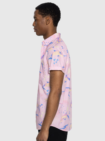 Pink Dolphin S/S Button Up