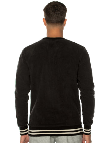 Black Polar Fleece Crew