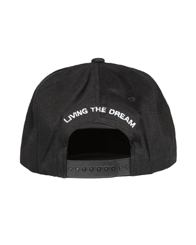 Black Logo Curved Snapback
