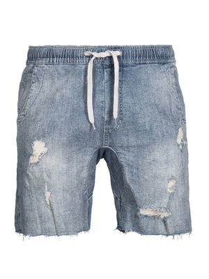 Distressed Denim Walk Shorts