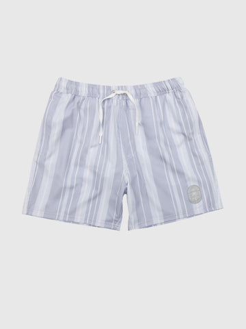 Washed Stripe Swim Shorts