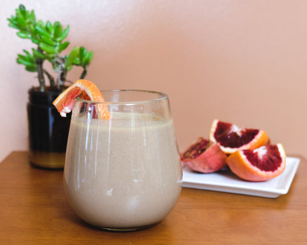 Blood orange and pomegranate protein smoothie