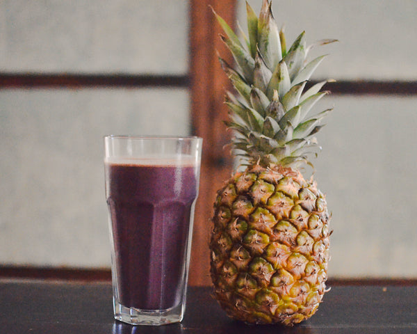 Pineapple, papaya, acai, recovery smoothie