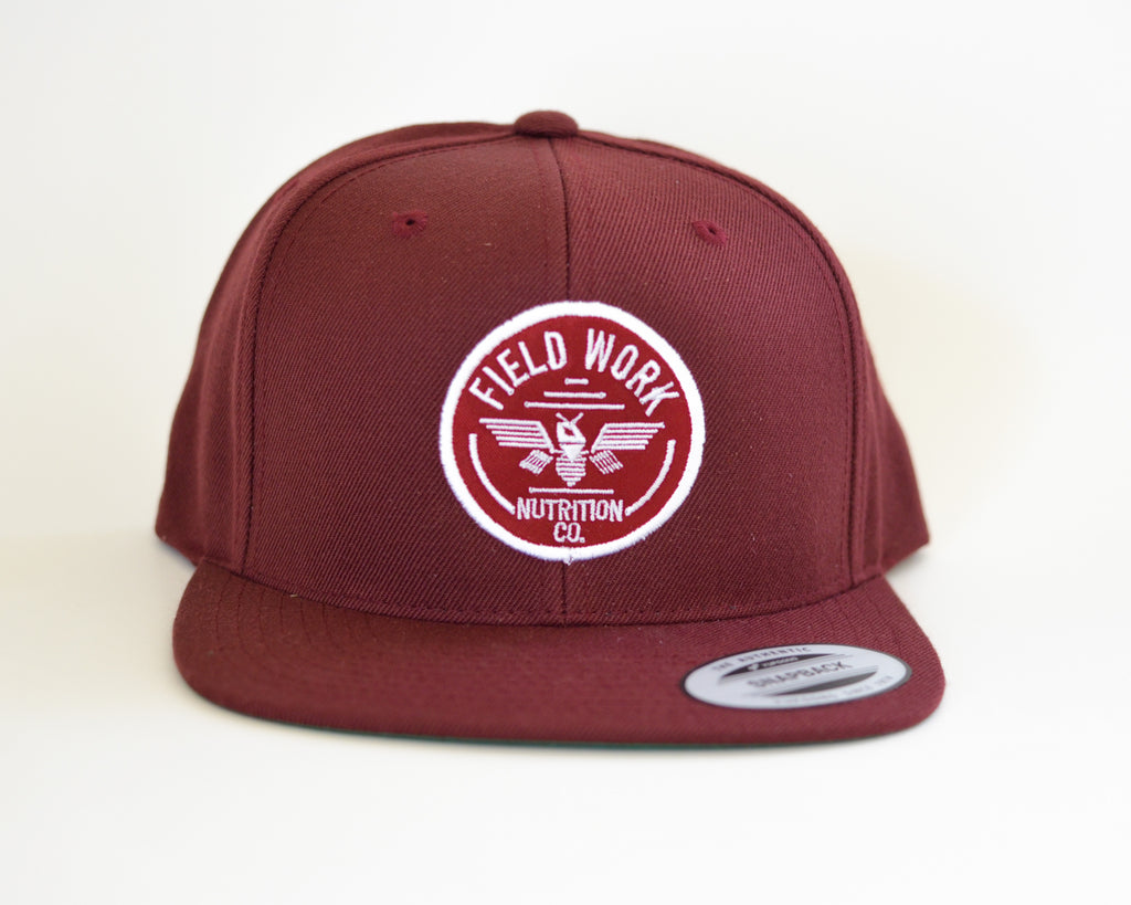 "Burgundy ""Thunderbee"" OG Logo Wool Blend Snap Back"