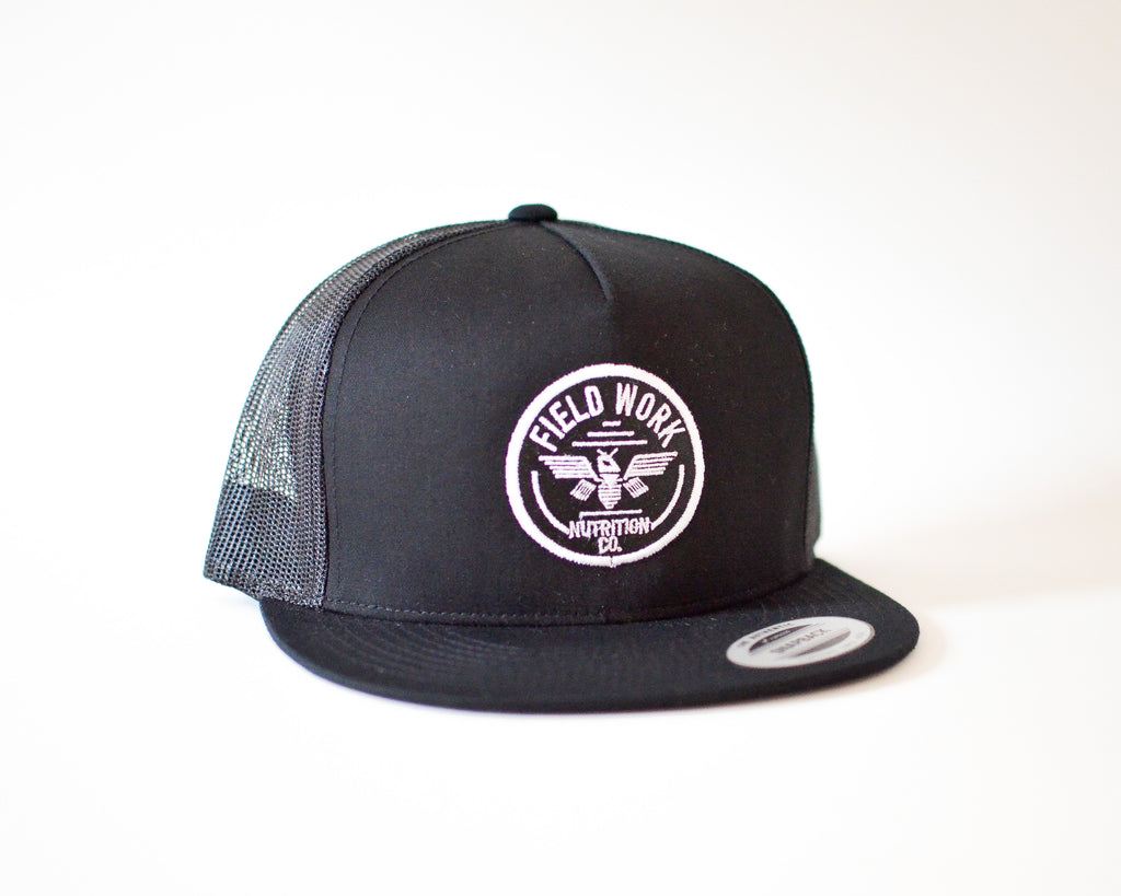 """Thunderbee"" OG Logo Trucker - Black"