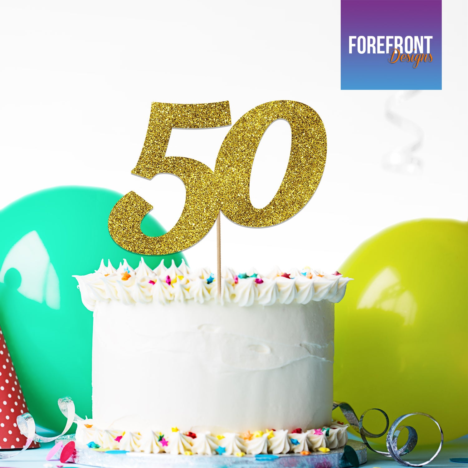 Astounding 1 Personalised 50Th Birthday Glitter Cake Topper Any Number Wording Funny Birthday Cards Online Ioscodamsfinfo