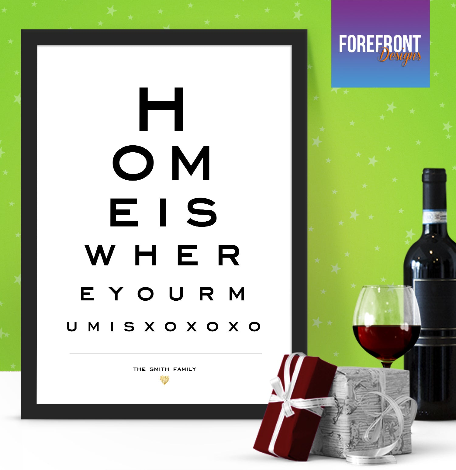 Personalised eye chart print ideal new familynew home gift personalised eye chart print ideal new familynew home gift forefrontdesigns geenschuldenfo Gallery
