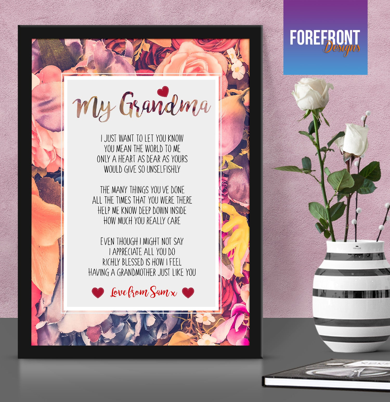 Personalised u0027My Grandmau0027 Poem print - Ideal Motheru0027s day gift/mum present : mothers day gifts for grandma - princetonregatta.org