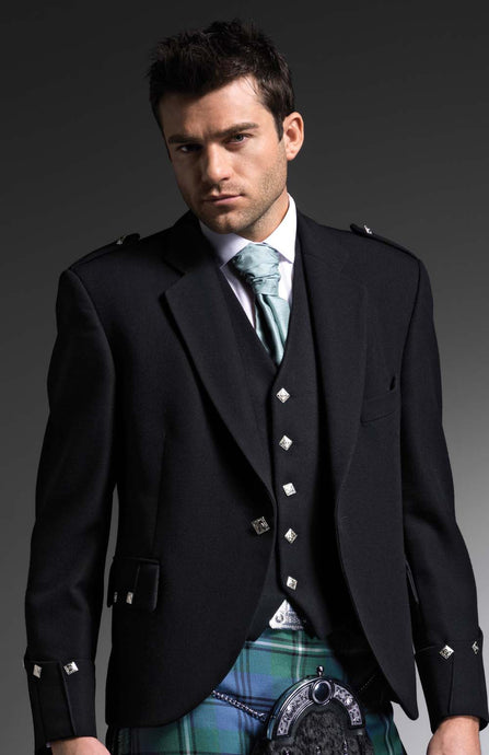 Ex-Hire Black Argyll Jacket - Gilt Edged