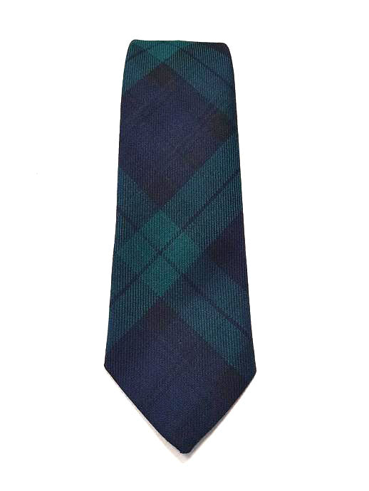 Black Watch Tartan Tie - Gilt Edged