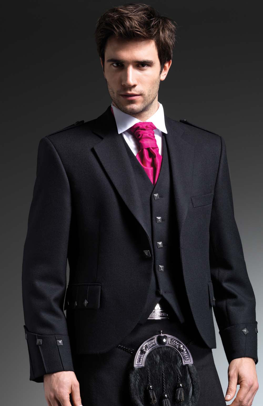 Dark Button Argyll Jacket - Gilt Edged