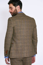 Marc Darcy: TED - Tan Tweed Check Two Piece Suit - Gilt Edged