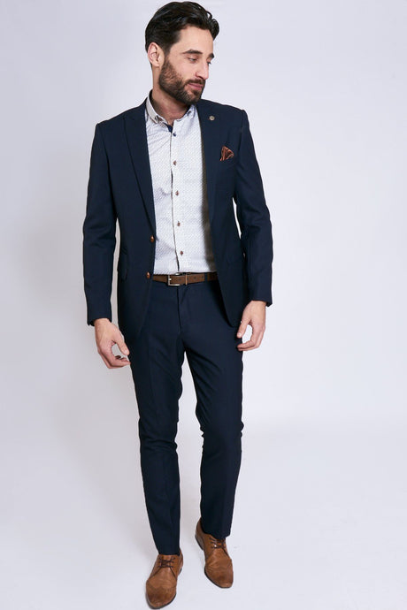 Marc Darcy: MAX - Navy Two Piece Suit with Contrast Buttons - Gilt Edged