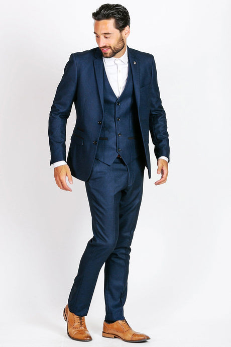Marc Darcy: CALLUM - Blue Three Piece Suit - Gilt Edged