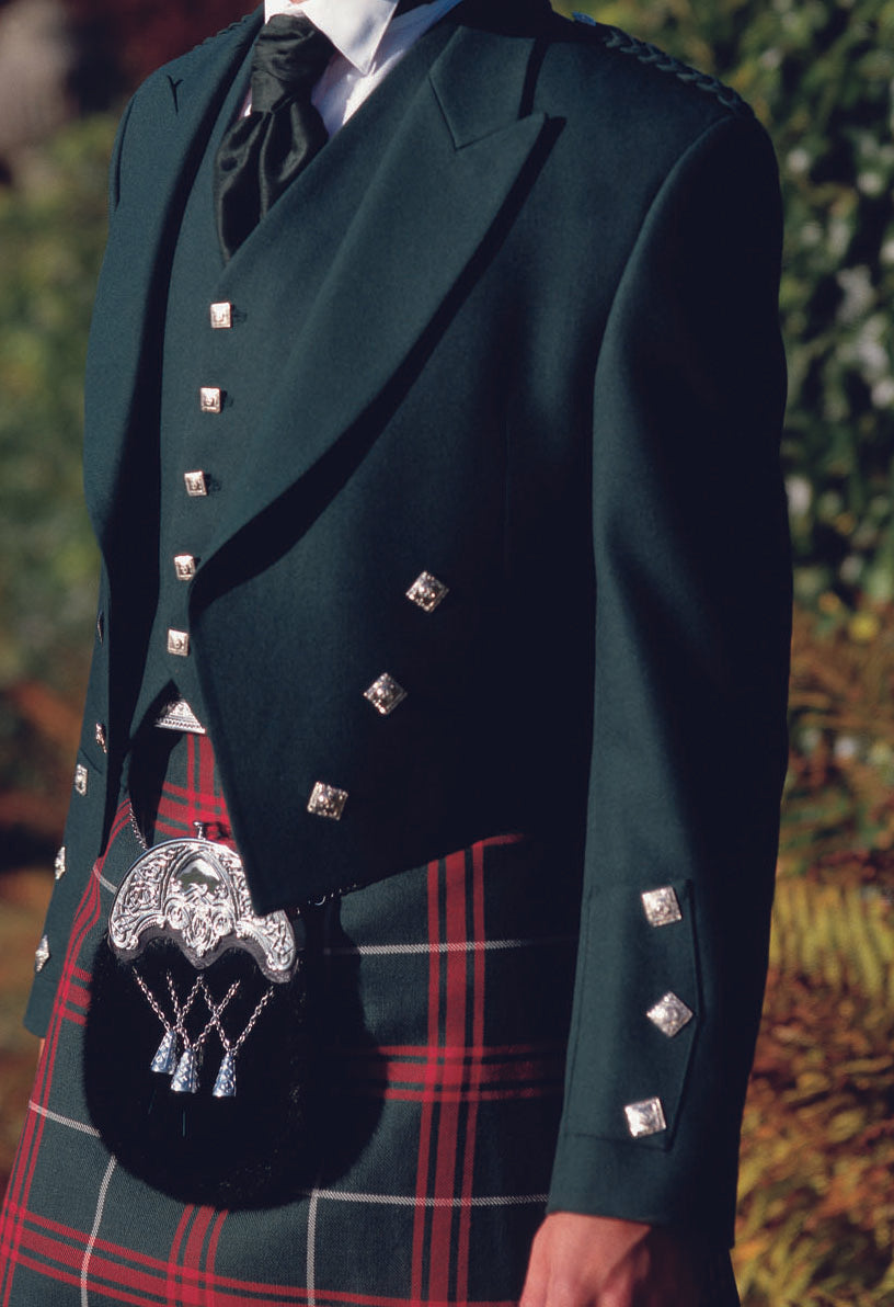Ex-Hire Green Prince Charlie Jacket - Gilt Edged