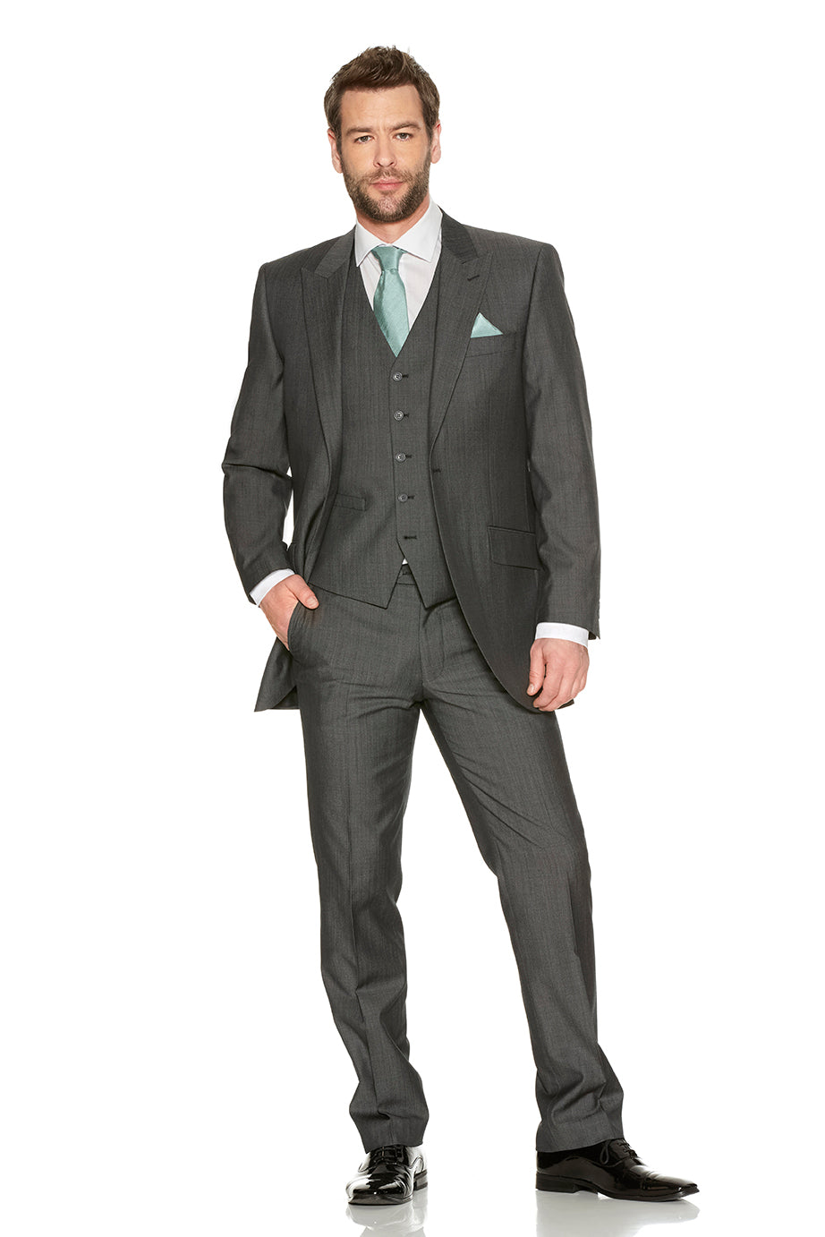 Silk Grey Suit