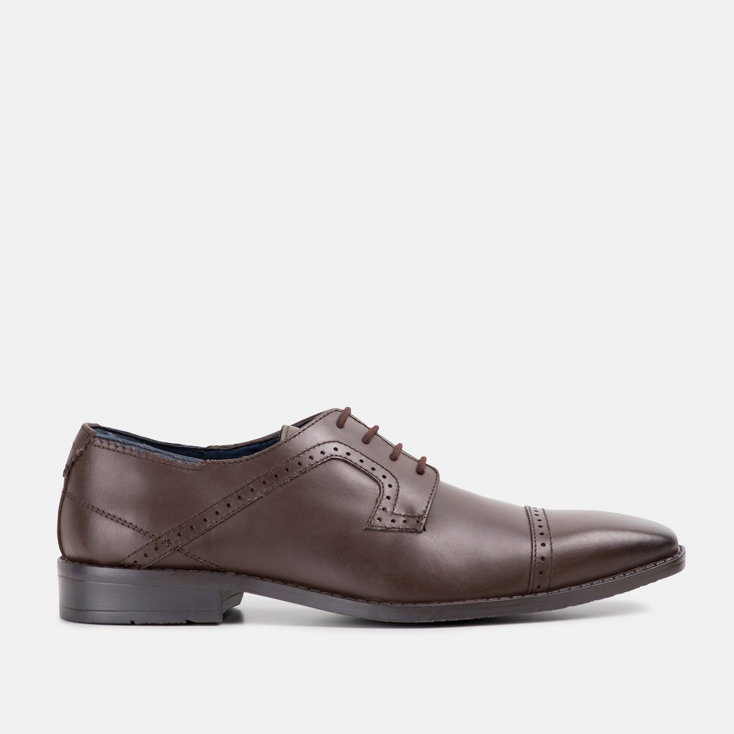 Goodwin Smith Victor Toe Cap Derby Brown - Gilt Edged