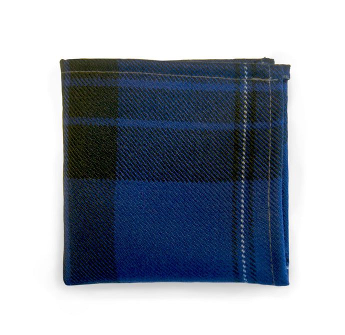 Blue Spirit Tartan Hankie - Gilt Edged