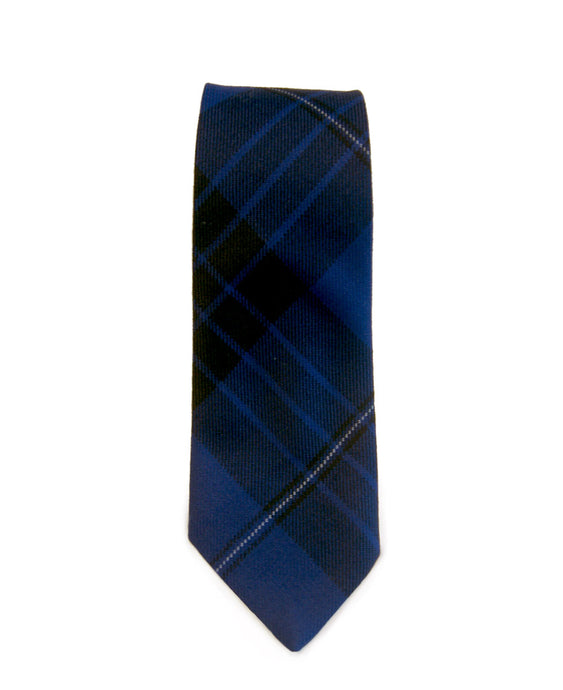 Blue Spirit Tartan Tie - Gilt Edged