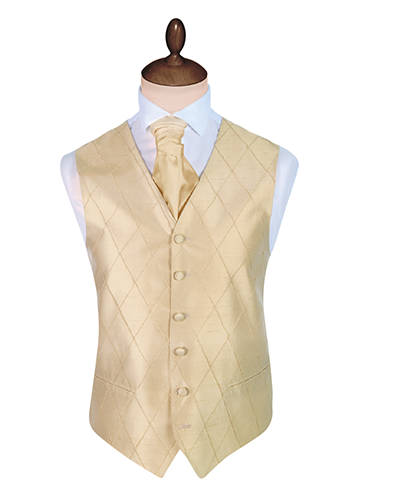 Silk Gold Marquise Waistcoat Upgrade