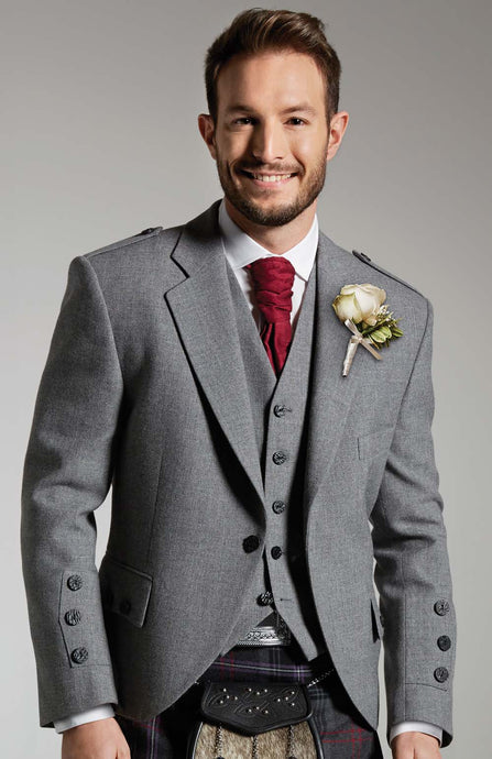 Light Grey Tweed Jacket - Gilt Edged