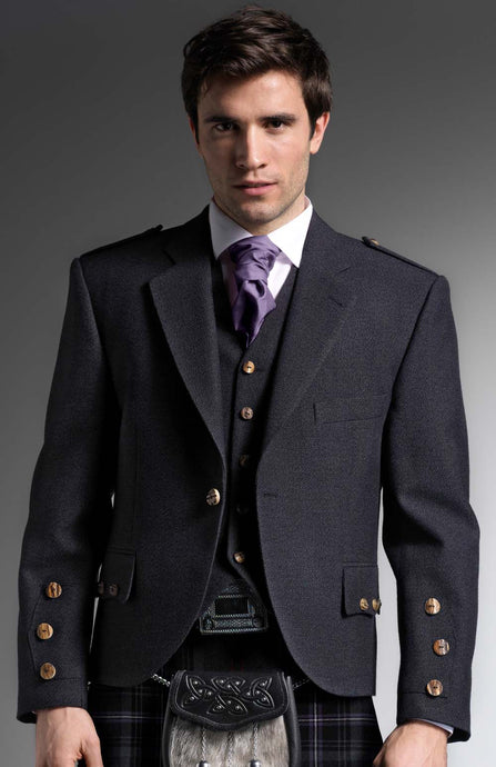 Ex-Hire Charcoal Tweed Jacket - Gilt Edged