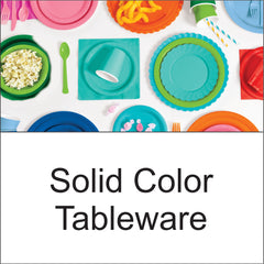 Solid Color Plates Napkins Tablecovers