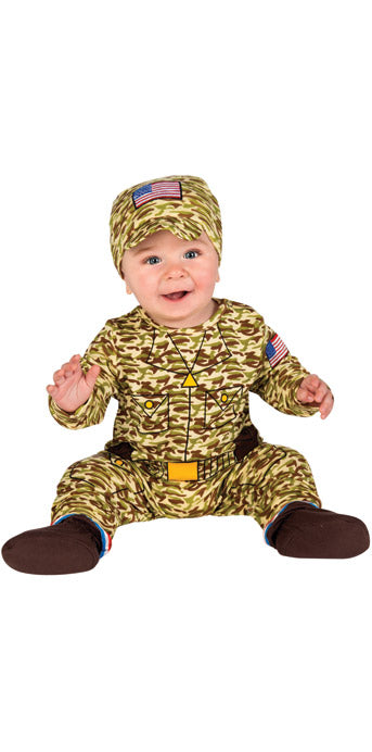 Infant Army Man Costume - INFANT - Halloween & Party Costumes - America Likes To Party