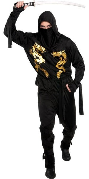 Adult Black Dragon Ninja Costume - ADULT MALE - Halloween & Party Costumes - America Likes To Party