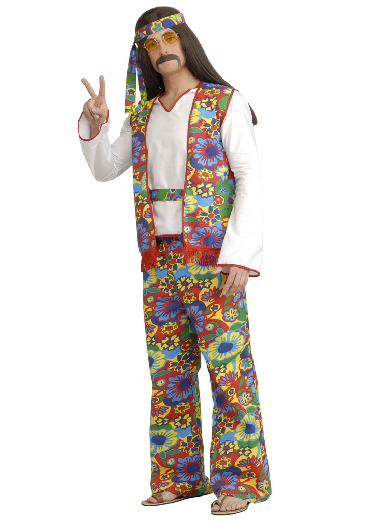 Adult Hippie Costume - ADULT MALE - Halloween & Party Costumes - America Likes To Party