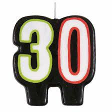 """30"" Candle - BIRTHDAY CANDLES - Party Supplies - America Likes To Party"