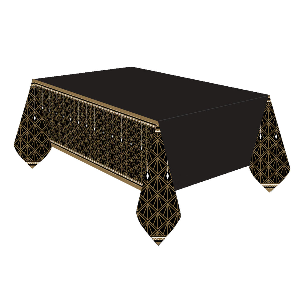 Glitz & Glam Plastic Tablecover - HOLLYWOOD/MOVIE NIGHTS - Party Supplies - America Likes To Party
