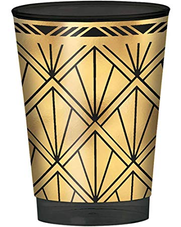 Glitz & Glam 10oz Plastic Tumblers - HOLLYWOOD/MOVIE NIGHTS - Party Supplies - America Likes To Party