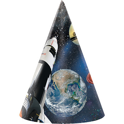 Space Blast Party Hats 8ct - SPACE BLAST - Party Supplies - America Likes To Party