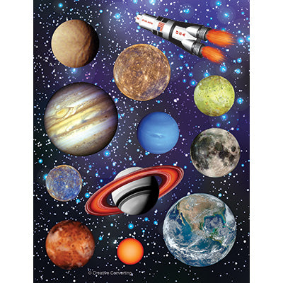 Space Blast Stickers 4ct - SPACE BLAST - Party Supplies - America Likes To Party
