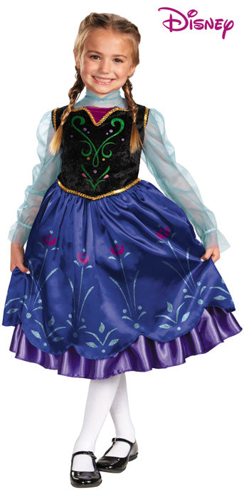 Child Anna Traveling Gown Deluxe Costume - GIRLS - Halloween & Party Costumes - America Likes To Party