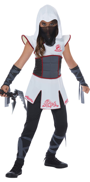 Child Fearless Ninja White Costume - GIRLS - Halloween & Party Costumes - America Likes To Party