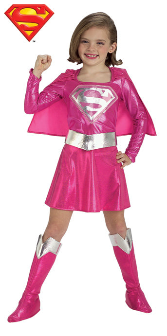 Child Supergirl Pink Costume - GIRLS - Halloween & Party Costumes - America Likes To Party