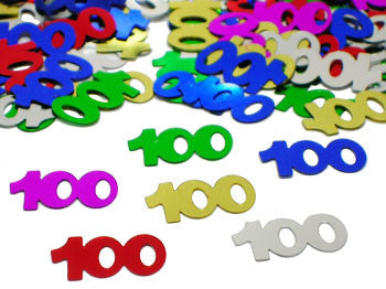 100th Birthday Confetti - 100 DAY OF SCHOOL - Party Supplies - America Likes To Party