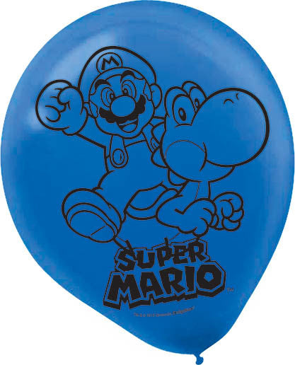 Super Mario Latex Balloons 6ct - MARIO - Party Supplies - America Likes To Party